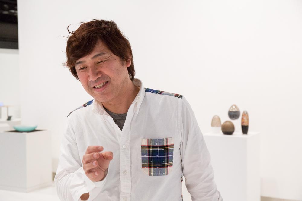 富山ガラス作家協会の代表を務める池田充章氏