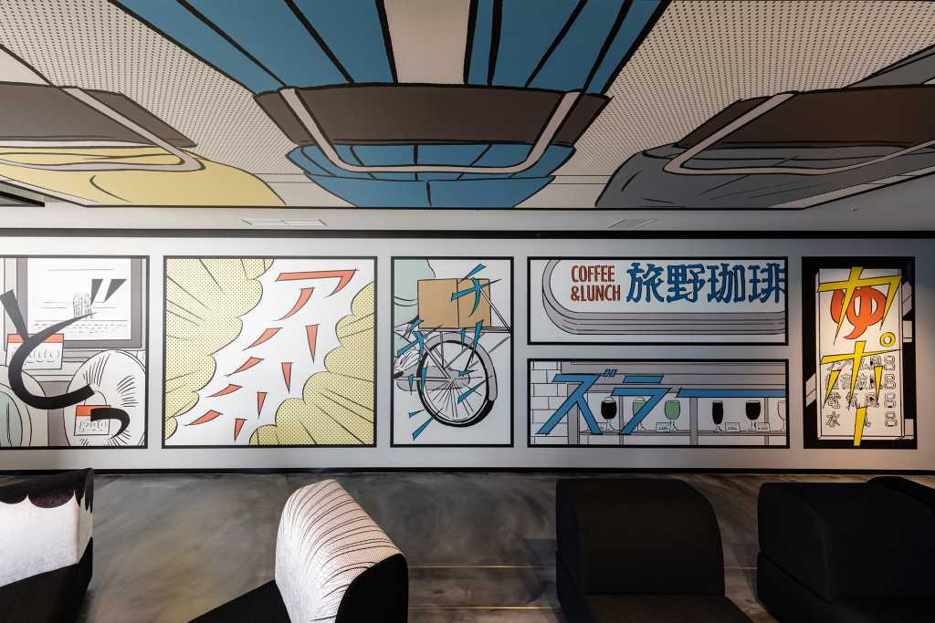 マンガモチーフの壁紙が「HOTEL TAVINOS 浜松町」に登場