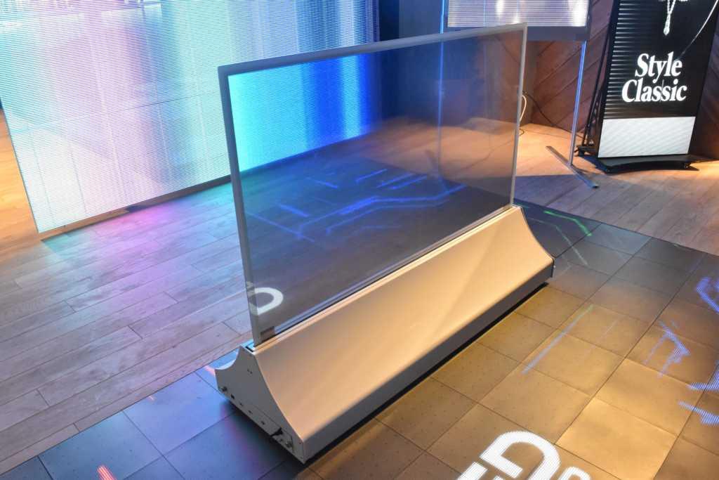 透明OLEDを採用した液晶モニタ「Clear display」