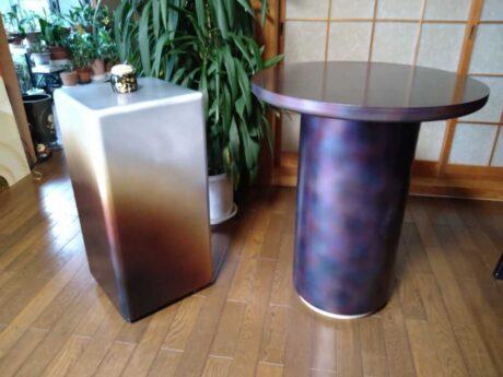 焼箔サイドテーブル・色箔テーブル
